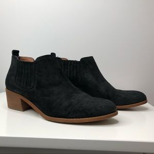 Tommy Hilfiger Black Suede Booties Size 8